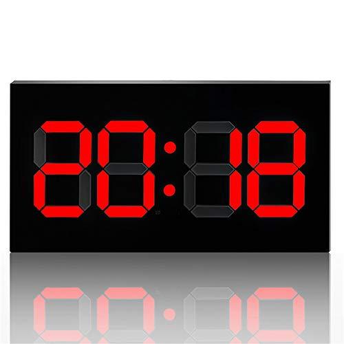 Keliour Reloj de pared con control de LLD, calendario grande, minuto reloj con alarma, cuenta atrás, reloj principal. Reloj de pared digital