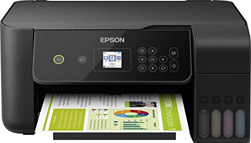 Epson EcoTank ET-2720 nachfüllbares 3-in-1 Tintenstrahl Multifunktionsgerät (Kopierer, Scanner, Drucker, DIN A4, WiFi, USB 2.0), großer Tintentank, hohe Reichweite, niedrige Seitenkosten