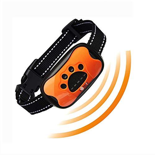 Wangou Lovatic Dog Bark Collar - No Shock Vibration & Sound Humane Training Device for Small Medium Large Dogs - 7 Levels Sensitivity Adjustment - Best No Bark Control Collar