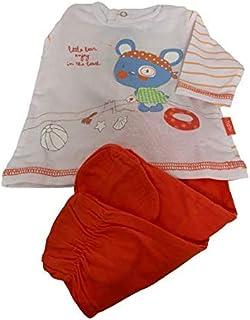Yatsi 7024- Conjunto dos piezas para tu Bebé. Recién Nacido. Color: Naranja. Talla 1Mes