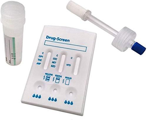 Drogentest Speichel Teststab + Kassette Multi 7 - hygienischer Speicheltest für 7 gängige Drogenarten