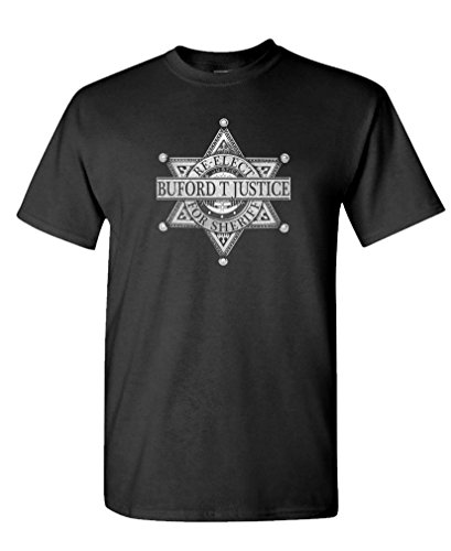 RE-Elect Buford Justice - Smokey 80's Movie - Mens Cotton T-Shirt, XL, Black