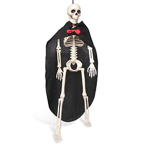 GESCHOK Pie de Pareja Esqueleto Muerto, Cuerpo Completo Huesos Humanos realistas con Juntas posibles para decoración de Halloween 15.7 in (40 cm), Novio