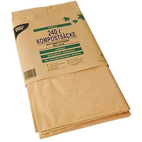 PAPSTAR+Sac+compostable,+240+litres,+brun