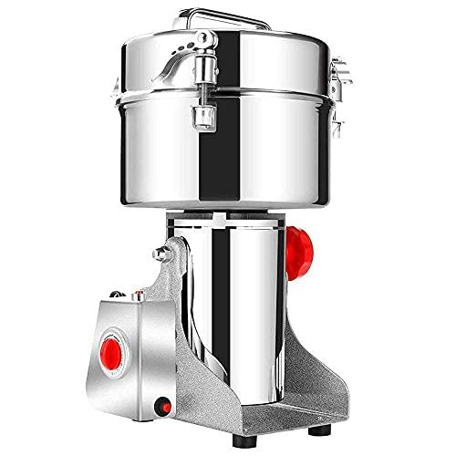 YQG Molinillo de café de preparación Completamente automático Productos 2500G Cereales comerciales Molino de Grano Molinillo de Hierbas 3 Cuchillas Máquina de molienda de Tiempo Procesador de al
