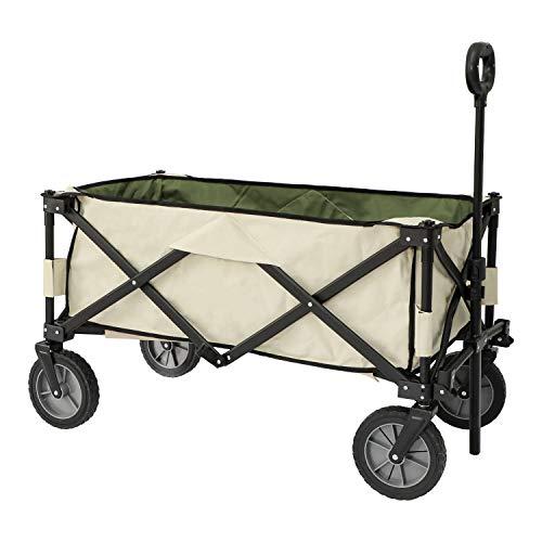 YOLER アウトドア キャリーワゴン 折りたたみキャリーカート キャンプ 耐荷重100kg 収束式 4折タイプ 丸洗い可 引越し道具 YR-CRT6830