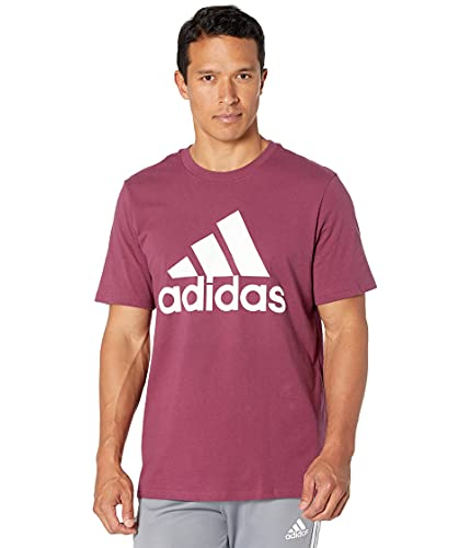 adidas Men's Standard Badge of Sport Classic Tee, Victory Crimson, Medium