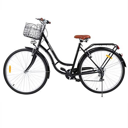 Ridgeyard 28' 7 velocidades de la luz de la bici señoras de la ciudad de bicicletas deportes al aire libre urbano de la ciudad de bicicletas Shopper bicicletas de ciudad Hombre de la bici