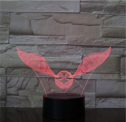 Vliegende vogel dier 3D nachtlampje verlichting vogel adelaar usb bureau tafellamp kind 3D nachtlampje voor vrienden kerstcadeau afstandsbediening telefoon bluetooth control kleur