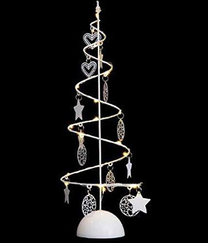 PEGANE Arbre Lumineux en Spirale Noël 15 LED Blanc Chaud - Dim : D.14 x H.45cm
