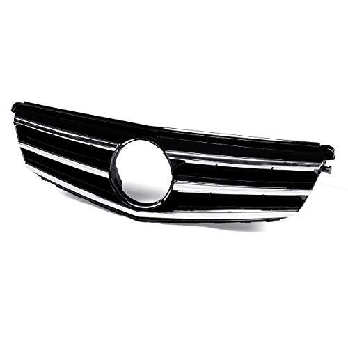 PPCP Racing Grille, W204 Grill GT R GTR Frontal de la Parte Superior de la Parrilla para Mercedes para Benz C Class W204 C180 C200 C300 C350 2008-2014,C