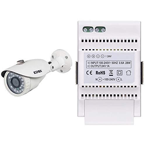 Vimar 46Cam.136B.8 Telecamera Bullet Ir Ahd 1080P Ob. 3,6Mm Cvbs, Bianco & 40103 Alimentatore Per Videocitofono Con Uscita 24 V, Alimentazione 100-240 V~ 50/60 Hz