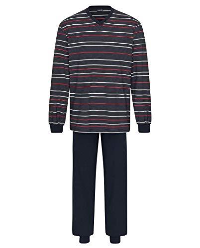 Herren Pyjama lang Blau 106