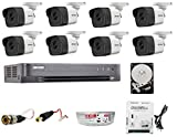 HIKVISION Ultra HD 5MP Cameras Combo KIT 8CH HD DVR+ 8 Bullet Cameras +2TB Hard DISC+ Wire ROLL +Supply & All Required CONNECTORS
