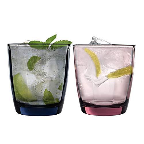 Bormioli Rocco Pulsar couleur Facettes boire en verre Gobelets - 300ml - Lot de 6