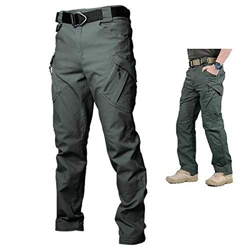 Upgraded Tactical Waterproof Pants,Men's Outdoor Tactical Pants Lightweight Assault Cargo Casual Pants,Combat Army Pants for Hunting Hiking