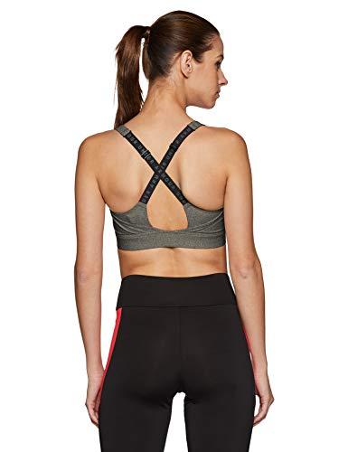Under Armour Damen UA Vanish Sport Bra, Charcoal Fade Heather/Black/Metallic Iron, M - 2