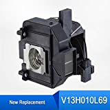 LOUTOC V13H010L69 Replacement Projector Lamp for Epson Elplp69 5010E 5020ub 5025ub 5030ub 5020ube 5030ube Pro Cinema 6020UB 6030ub 4030 6010 (lamp with housing)