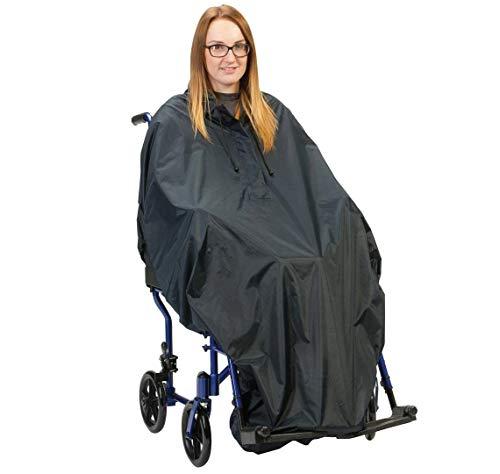Drive - Poncho impermeable con dobladillo elástico para silla de ruedas