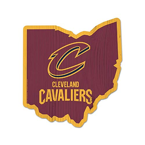 WinCraft NBA Cleveland Cavaliers State Wood Sign