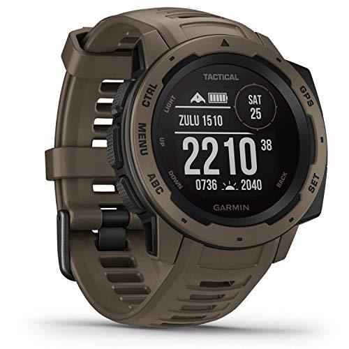 Garmin Instinct Tactical – sehr robuste Outdoor-Smartwatch mit taktischen Funktionen, US-Militärstandard, bis zu 14 Tage Akku, wasserdicht bis 100m, GPS/GLONASS/GALILEO, Kompass, Barometer, Navigation