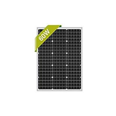 Newpowa 60W 24V Monocrystalline Solar Panel Designed for 24V Charge System Off Grid