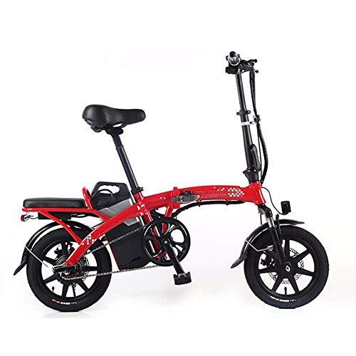 CHHD Triciclo de Movilidad eléctrica, Scooter eléctrico para Adultos, Bicicleta eléctrica Plegable y portátil, Motor máximo de 350 W, con luz LED y Pantalla