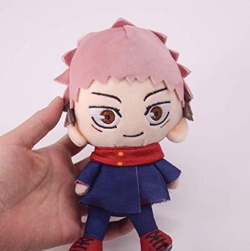 Jujutsu Kaisen Plush Doll Anime Itadori Yuji Stuffed Figure Toy Plushie for Jujutsu Kaisen Fans 3.94/5.9inch (B)