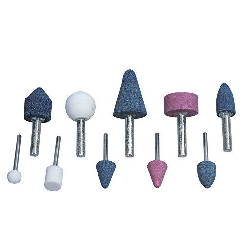 Blue Spot Tools 19026 - Set di mole abrasive con innesto, confezione da 10 pezzi