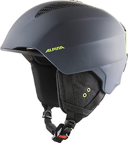 ALPINA GRAND Skihelm, Unisex– Erwachsene, charcoal-neon matt, 57-61