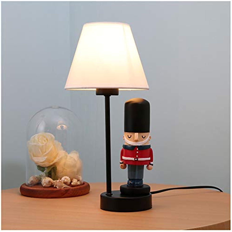 XiuXiu Kinderzimmer Cartoon Soldat Tischlampe Schlafzimmer Nachttischlampe Kreative Warme Romantische Nettes Mdchen Junge Dekorative Tischlampe (Farbe   schwarz)