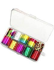 Starry Sky Shell Nail Folie Kolorowe transferu Naklejki Nail Art Kit Fashion Ozdoby Przerwane DIY Pielegnacja paznokci