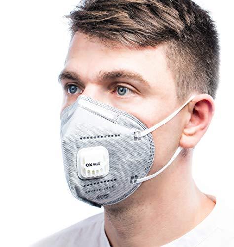 ViTho [5 Stück] TOP Schutz inkl. Ventil | Atmung Schutz gegen Staub, Pollen, Abgase, Luftverschmutzung