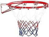 AMBM Adolescentes Baloncesto Rim Iron Basketball Hoop Net System se adapta al deporte al aire libre Baloncesto para Kidsdiameter 45cm Baloncesto Metales