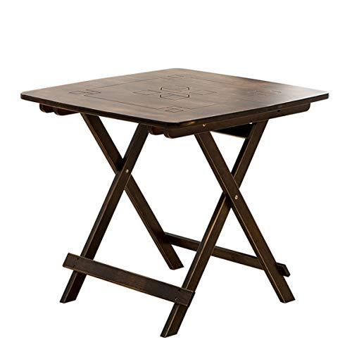 FASHPOOYS - Muebles de comedor y sillas plegables de bambú, madera, marrón, Tables (60x60 CM)