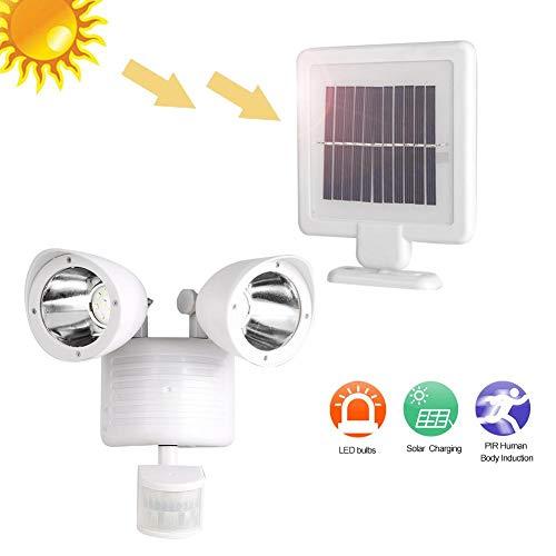 Solar PIR-bewegingssensor voor buiten met 22 verstelbare LED's, Waterdicht 360 ° roterend PIR-bewegingssensorlicht, Home Security Monitor, Geschikt voor tuinen/werven/garages/veranda's