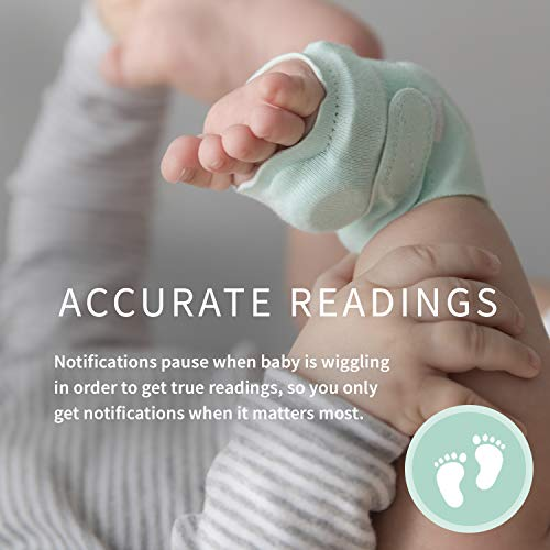 Image of Owlet Smart Green Sock Baby Monitor - Track Heart Rate & Oxygen Levels - With Smart Notifications - See Hours Slept and Historical Trends - The Ultimate Baby Monitor for Peace of Mind