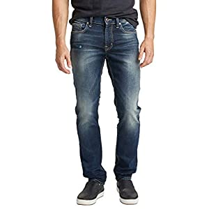 Denim Jeans for Men, Skinny Dark Indigo Wash, Comfort Stretch