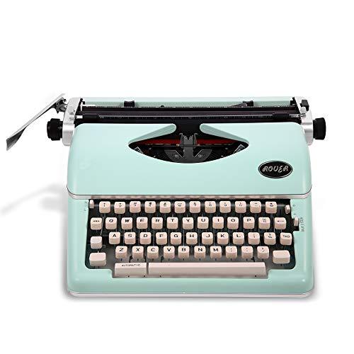 Máquina de escribir vintage, máquina de escribir mecánica, retro, adecuada para niños y ancianos (verde menta)