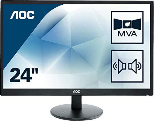 AOC M2470SWDA2 60 cm (23,6 Zoll) Monitor (VGA, DVI, MVA Panel) schwarz