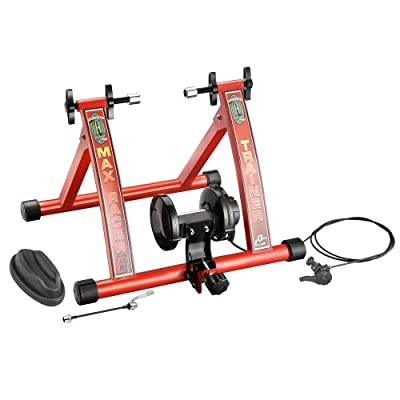 RAD Cycle Products Max Racer 7 Levels of with Smooth Magnetic Resistance Bicycle Trainer Allows You to Work Out with Your Bike