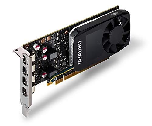 HP NVIDIA Quadro P1000 Grafikkarte mit 4 GB - Grafikkarten (4 GB, GDDR5, 128 Bit, 5120 x 2880 Pixel, PCI Express 3.0)