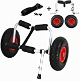 Wistar Canoe Cart Boat Kayak Canoe Carrier Dolly Trailer Tote Trolley Transport Cart Wheel, Capacity 220 Pound (One Leg)