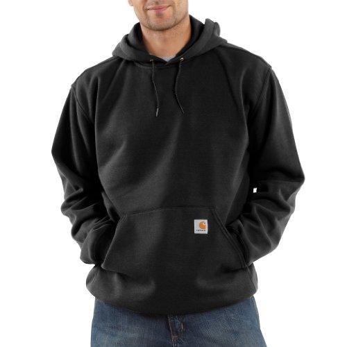 Carhartt Men's Midweight Sweatshirt Hooded Pullover Original Fit K121,Black,X-Large