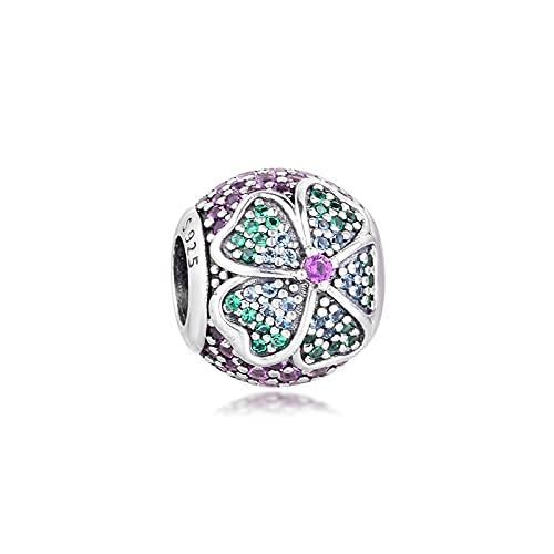 Charms 925 Silver Original Fit Pandora Pulseras Plata De Ley Glorious Bloom Charm Beads Para Mujeres Fabricación De Joyas Diy