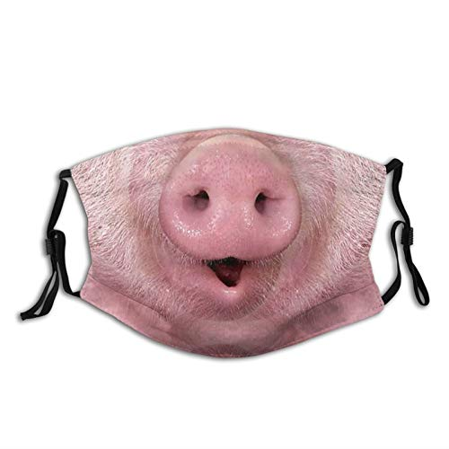 Pig Nose-Face Mask Balaclavas, Dust Filter-Breathable-Washable,Adult Unisex Black 1 Pcs