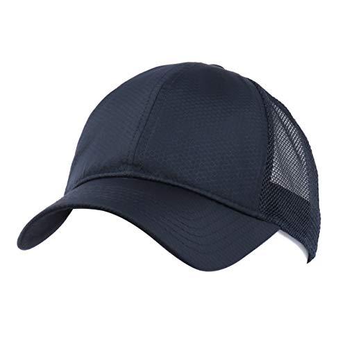 Zylioo Gorras de béisbol de malla XXL Big Running Trucker gorra, gran transpirable, secado rápido, ajuste normal de 21.5-23 pulgadas, cabeza grande 23.5-25 pulgadas, azul marino, XX-Large