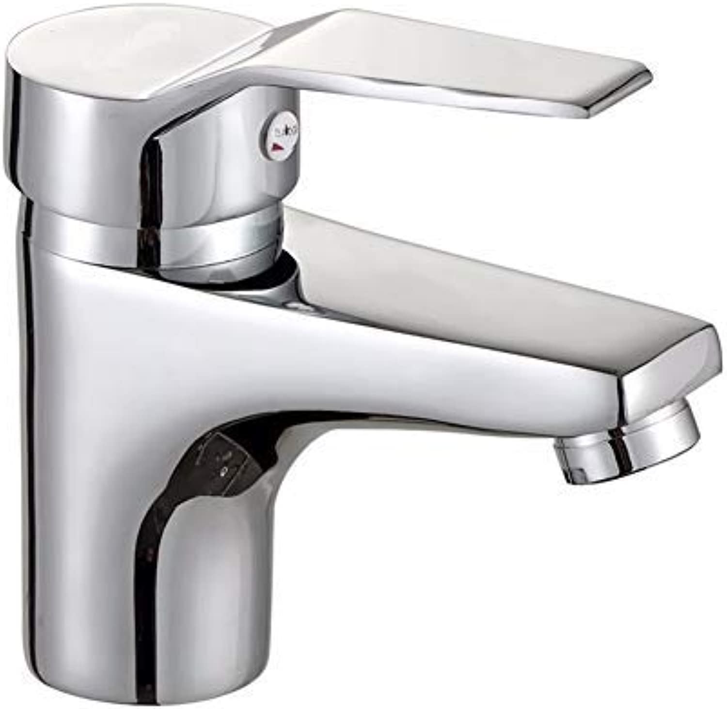 ZHAS Washbasin faucet, solid brass mixer for chrome-plated single-lever mixer