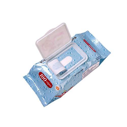 Handtücher mit Deckel für Neugeborene, chemikalienfreie und plastikfreie Tücher für Windeleinlagen, Make-up-Entfernung, Patienten- und Haustier-Reinigung