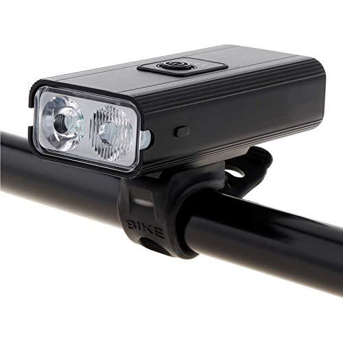 Luz de la luz fija a prueba de agua 1200lm 2 XML-T6 LED Bicicleta USB de la bicicleta de montaña recargable con 6 modos de iluminación y pantalla de potencia para la bicicleta de la ciudad de la ciuda